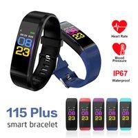 ID115 Artı Akıllı Bilezik Ekran Bilezik Spor İzle Spor Koşu Izci Kalp Hızı Pedometre Kan Basıncı Akıllı Bileklik