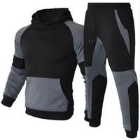 رجل رياضية إلكتروني طباعة الصوف sleatsuits الأزياء hommes jogger صالح الدعاوى المحولات مقنع هوديس عارضة السراويل الطويلة ملابس HD057