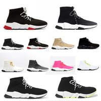 chaussures scarpe rubber zapatos sock zapatilla speed 2.0 lace up dad baskets femmes hommes balenciaga balenciaca balanciaga clear sole boot sneakers men women shoes