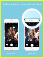 Selfie Ring Light، شحن USB LED Selfie Ring Light Light LED Selfie Lamp Ring for iPhone لسامسونج Xiaomi الهاتف