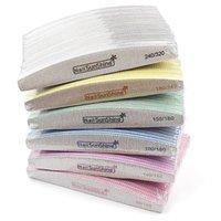 Spikfiler 50st grå fil 80/100/150/180/240/320 Tvättbart dubbelsidigt slipbuffertblock för UV Gel Polish Manicure Tool