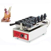صناع الخبز التجارية Taiyaki آلة الروتاري التحكم في درجة الحرارة الآيس كريم عموم فتح الفم السمك وافل صانع 1
