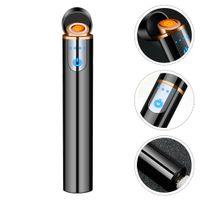 Mini USB Şarj Elektronik Isıtıcılar Dokunmatik-Senstive Anahtarı Çakmaklar Alevsiz Metal Rüzgar Geçirmez Şarj Edilebilir Çakmak Sigara Için Elektrikli Isı