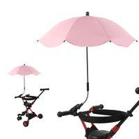 Sonnenschirm Wasserdichte blaue rote Babywagen Regenschirme Multi Farben Sunshade Clip Legierung Spitze Metallstange 14ly P2