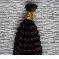 처리되지 않은 브라질 땋은 머리 확장 Kinky 곱슬 벌크 머리 100g 1pcs 꼰 대량 벌크 없음 첨부물 크로 셰 뜨개질 머리 머리 대량 벌크 없음