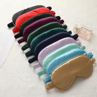 Femmes imitée Silk Sleep Eyes Masques Souvenirs Portable Portable EyePatch Nap Patch Repose Bandes Vavante Couvre-jour Douhage Masque Nuit