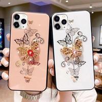 럭셔리 블링 라인 석 다이아몬드 링 반짝이 전화 케이스 프로텍터 커버 아이폰 12 프로 최대 12 미니 11 Pro x XS XR XS Max 6 7 8 Plus