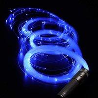 LED Fiber Optic Cable Whip LED Glow Handschoenen Multicolor Dance Whip Light Up Rave Toy Flashlight Dance Festival Stick Glow LED