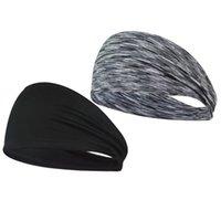 스웨트 밴드 2pcs 스포츠 머리띠 땀 방지 모자를 운영하는 요가 스포츠 헤드 랩 헤어 액세서리 사이클링 (블랙 + 스트립