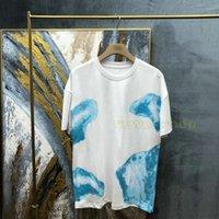 2020 Neue Ankunft Designer T Shirts Solide Wolken Druck T-shirt Mode Herren T-shirts Frauen Top Qualität Kurzarm Tshirt Freizeit Tops T-Stück