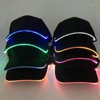 Papas de bola Moda Unisex Color sólido LED LED Luminoso Sombrero de Béisbol Fiesta de Navidad Cap1