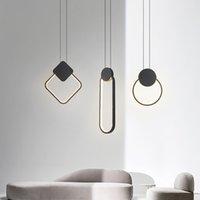 Modern asılı led kolye lamba 12 w alüminyum fikstür mutfak restoran bar için kolye ışıkları oturma odası yatak odası AC85-265V