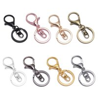 Bagroir en métal Swivel Swivel Bagrace de serrage en métal Crochet de fermoir à griffes de lobesters Faire votre propre porte-clés porte-clés porte-clés Keychain Bijoux
