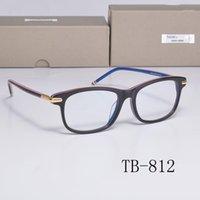 Marque Thom Optical Eyeglasses Cadres TB812 Anti Blue Lentille Myopia Ordonnance Lunettes de lunettes Femmes Hommes avec cas de luxe1