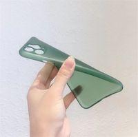 PP Matte Copertura del telefono cellulare Ultra sottile Trasparente Shell Glassed Protector Protector Casi per iPhone 12 Pro Max X XR XS 11 per Samsung S20 Plus