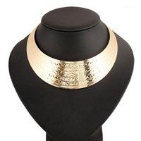Lufang 2017 Marke Mode Boho Silber Farbe Maxi Große Collier-Aussage Halskette Punk Power Collar Choker Halskette Frauen Schmucksry1