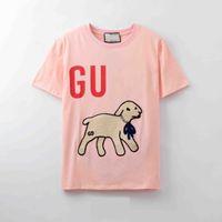 2021 New Luxur Stickerei Tshirt Mode Personalisierte Männer und Frauen Design T-shirts Weibliche T-Shirts Hohe Qualität Schwarzweiß-Weiß100% Cotton