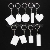 Lege Sublimation Bag Accessoires Charms Sleutelhanger Hanger Dubbelzijdig Afdrukbare DIY Custom Ornaments Aluminium Blad met hangende gespen