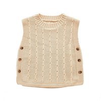 DFXD Infant Boys Girls Knitted Vest 2021 Autumn 100% Cotton ...