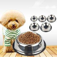 Paslanmaz Çelik Köpek Kedi Kase Kaymaz Pet Besleyici Pet Kase Evcil Malzemeleri Kedi Gıda Kase Pet Köpek Aksesuarları VTKY2332