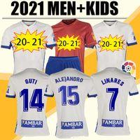 20 21 Echte Zaragoza Fussball Jersey 2020 2021 Zaragoza Shinji Kagawa André Pereira Alberto Camisetas de Futbol Set Football Hemd