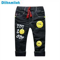Nuovo inverno spessore caldo ragazzi jeans Black Fashion Bambini Abbigliamento Baby Boy Thermal Denim Pants per bambini 1-5 Anno DB-B02 201207