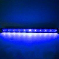 새로운 디자인 24W 156LED 전체 스펙트럼 워터 램프 47.2 인치 블랙 미국 표준 수족관 조명 (47.2-55.1inch 긴 수족관에 적합)