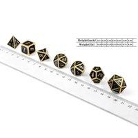 Gambing 7 pcs style marteau de style métal diction métallique DND jeu dd avec cas gratuit 094c
