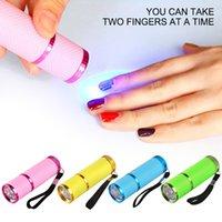 Lampada portatile Lampada Lampada per unghie per UV leggero per unghie Essiccatore mini torcia torcia per nail art manicure utensili 8 colori da scegliere
