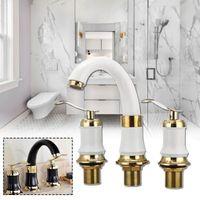 Robinet de salle de bain robinets robinet de robinet de robinet de robinet avec tuyaux céramique vanne bassin baignoire baignoire baignoire eau