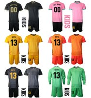 2021 Sezon Camisa De Futbol Özel Çocuk Kiti Üniforma Setleri Kaleci 13 Neto 1 Terler Tegen Futbol Erkek Eğitim Futbol Forması