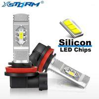 2 unids H11 H8 LED HB3 9005 HB4 9006 Bombillas LED con chips de silicona luces de niebla de coche Lámpara de conducción Auto 12V Blanco Hielo azul1