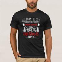 Мужская печать повседневная 100% хлопок футболка популярна все, что я хочу сделать, это печь Рождественское печенье футболка