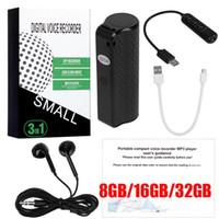 8GB 16GB 32GB Q70 MINI MINI PORTABLE DIVERALE ENCOUVERTURE DE TRANSFORMATION DICHONE AUDIO RECORDER DICAPHONE AUDIO JOUEUR DHL