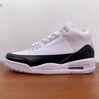 3 منخفضة شظية تصميم أبيض أسود للرجال أحذية رياضية 3 ثانية هيروشي فوجيوارا الرجال أحذية كرة السلة أحذية