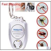 Mini Electronic Ultraschall Moskito Pest Repeller Keychain Taschenlampen Mini Key Clip Button Ultraschall Electronic Mosquito Repellent BTPFC