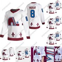 Colorado Avalanche 2020-21 عكس الرجعية جيرسي 8 Cale Makar 19 جو Sakic 29 Nathan Mackinnon 92 Gabriel Landeskog 96 Mikko Rantanen