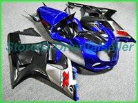Custom Blue Black Ae10 Kit de Feira para Suzuki GSXR 600 750 K1 2001 2002 2003 GSXR600 GSXR750 01 02 03 Kit de feiras de motocicleta