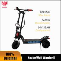 Orijinal Kaabo Kurt Savaşçı II Akıllı Elektrikli Scooter İki Tekerlekler Katlanabilir Kaykay Yeni Tasarım 11inch 60V 35AH LG Lityum Batarya