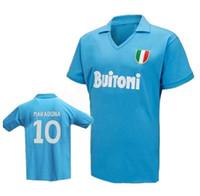 Top Retro 10 Maradona 10 91 93 Soccer Jerseys 87 88 Camicia da calcio Yakuda Best Sport Sport Locale Negozio online Formazione Dropshipping Uomini accettati