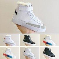 Nike Blazer Mid Sacai x السترة منتصف الاطفال أحذية الرضع الرياضة ضوء الكلاسيكية skateboarding أحذية بنين بنات الطفل أحذية الأطفال الصغار المدربين