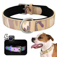 Collo in pelle da cane regolabile per piccoli cani medi medio Pet Camouflage Collar S M L XL PET WMTIHJ