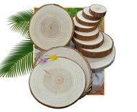 الرجعية الخشب الحلي جولة خشبية شريحة سحر مفتاح حلقات الطبيعية غير المكتملة الخشب diy اليد اللوحة المواد الفنون والحرف