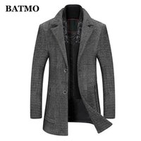 BATMO 2020 new arrival autumn fashion casual trench coat men,thicked jackets,plus-size M-XXXL