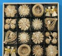 나무 장식품 세트 밀 짚 짠 축제 장식 크리스마스 장식 판매 온라인 크리스마스 장식 Zgox #bbyhot