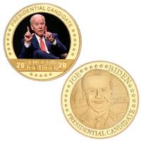 Elezione presidenziale degli Stati Uniti Joe Biden Placcato oro placcato moneta da collezione USA Sfida moneta moneta di moneta originale Regali per uomo DHA2827