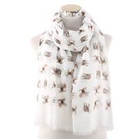 2021 Écharpes de haute qualité Modèle de chien imprimé écharpe longue écharpe Lady châle commerce extérieur commerce de gros livraison gratuite