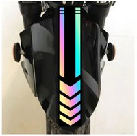 Dış Ticaret Toptan Motosiklet Çamurluk Sticker Yansıtıcı Uyarı Sticker Ok Hatları Elektrikli Araba Çıkartmaları A313 001
