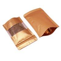 100 pcs / lote Multi-Size Stand Up Folha De Alumínio Mylar Alimentos De Armazenamento Sacos Mylar Zipper Embossed Design Revablable Pack Bolsa Da Folha Da Folha