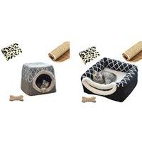Kennels Stylos PET Cat Cat Dog Nid Dual Use Tapis de couchage doux chaud pour une couverture de tapis respirante antidérapante